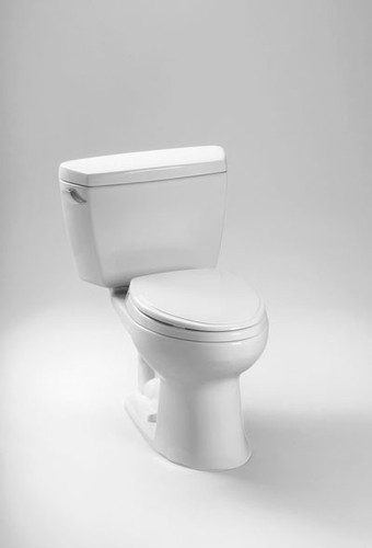 Toto Drake Two-Piece Toilet.1.6 GPF, Round Bowl