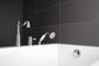 Rubi Saida 3-hole deck mounted bath faucet with handheld shower RAR23SCC