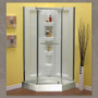 """Mirolin 38"""" Neo-Angle Shower Package with Walls"""