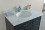 "Cambridge 36"" Bathroom Vanity Satin Grey With Stone Top *CYBER WEEK SALE*"