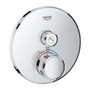 Grohe Grohtherm SmartControl Single Function Thermostatic Trim with Control Module Chrome Finish - 29136000