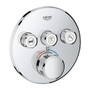 Grohe Grohtherm SmartControl Triple Function Thermostatic Trim with Control Module Chrome Finish - 29138000
