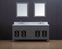 "Casa 60"" Double Sink Bathroom Vanity Ice Grey"