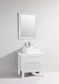 "Carnival 28"" Bathroom Vanity with Over Mount Sink White"