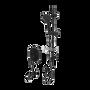 Rubi Myrto Pressure Balanced Two Way Shower Kit