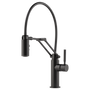 Brizo Solna® Single Handle Articulating Kitchen Faucet  Solna takes clean design to a new level with its seamless pull-down wand and crisp lines Matt Black