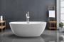 """Kelowna 59"""" Freestanding Bath Tub Matte White"""