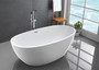 "Kelowna 67"" Freestanding Bath Tub Matte White"