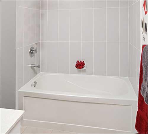 "mirolin phoenix 60"" x 30"" skirted left hand bath tub - york taps"