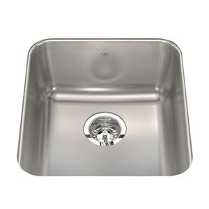 Kindred Qsua19178 17 Single Bowl Stainless Steel Undermount Bar