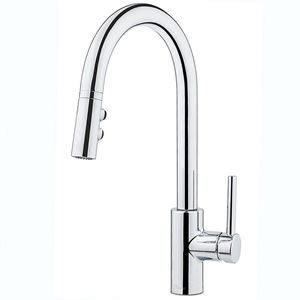 Price Pfister Stellen 1 Handle Pull Down Kitchen Faucet Chrome