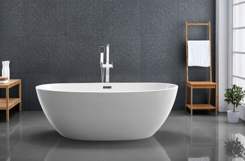 "kelowna 67"" freestanding bath tub white - york taps"