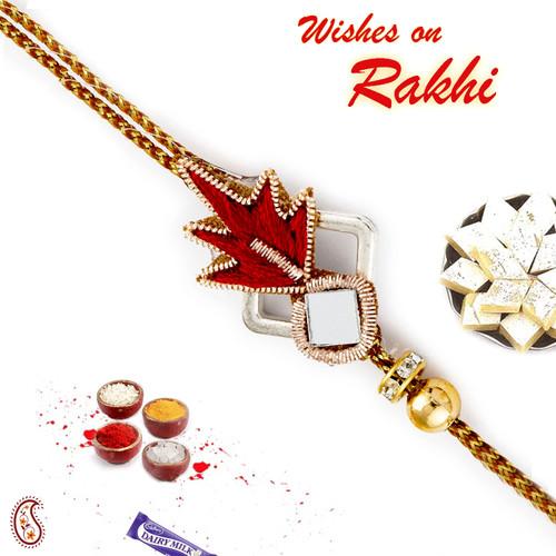 Aapno Rajasthan Mirror Work Rich Zardosi Rakhi