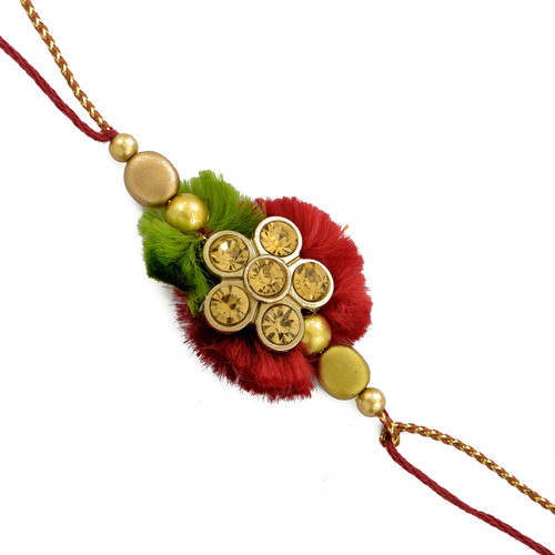 Floral Rakhi with stones and beads