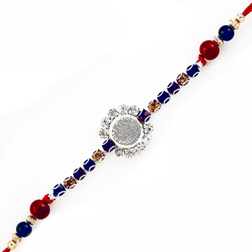 Lakshmi Devi Rakhi with American Diamonds and Beads