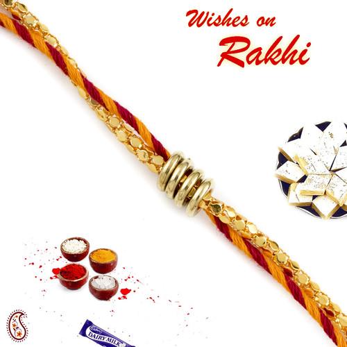 Aapno Rajasthan Twisted Ring Mauli Thread Rakhi