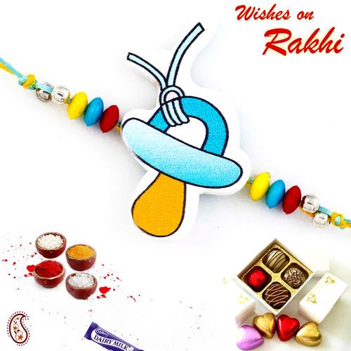 Aapno Rajasthan Wonderful Blue & Yellow Stylish Kids Rakhi