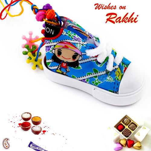 Aapno Rajasthan Colourful Lumba Rakhi for Girl Child