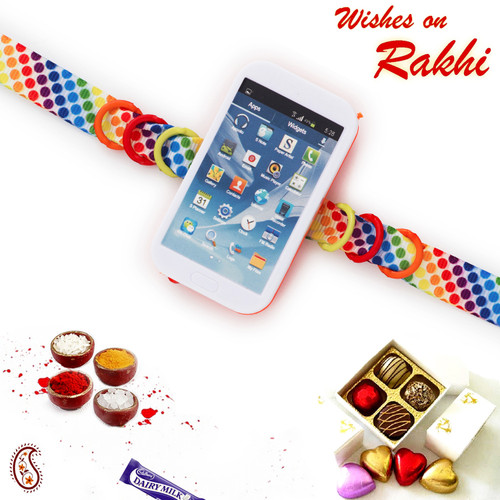 Aapno Rajasthan Colourful Band Mobile Rakhi