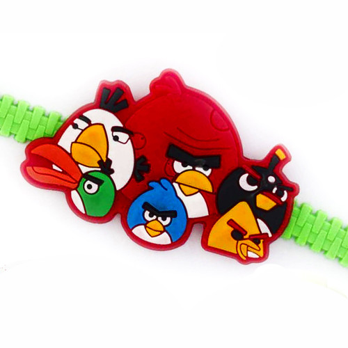 Angry Birds Green Strap Kids Rakhi