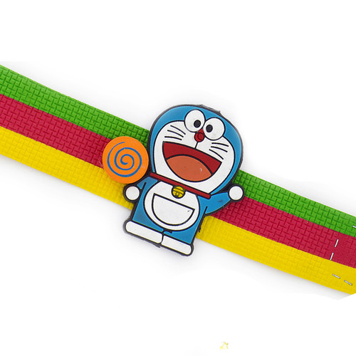 Beautiful Tricolor Wrist Band Doremon Kids Rakhi