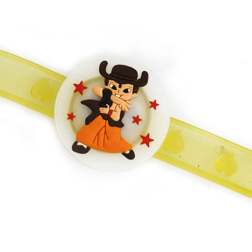 Chhota Bheem Yellow Wrist Band Kids Rakhi