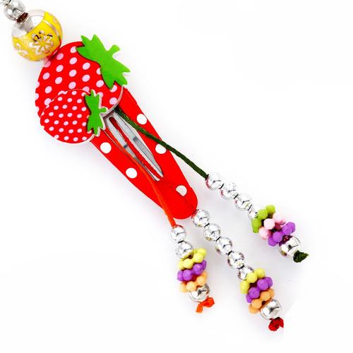 Beautiful Strawberry Tic Tac Girls Lumba Rakhi