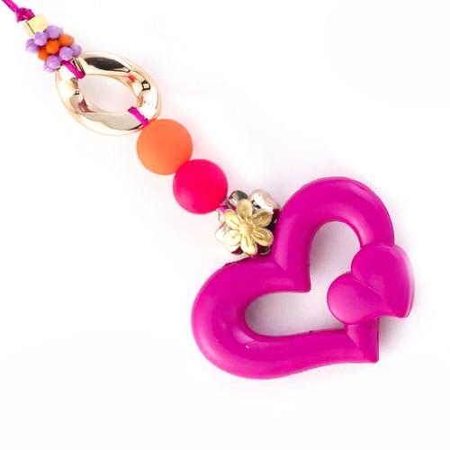 Pink Twin Heart Shape Beautiful Lumba Rakhi