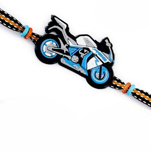 Aapno Rajasthan Dashing Motor Bike Motif Kids Rakhi