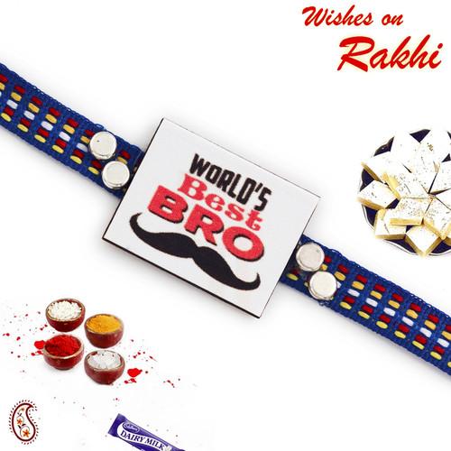 Aapno Rajasthan World's Best Brother Motif Rakhi