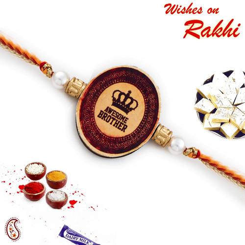 Aapno Rajasthan Awesome Brother Motif Rakhi