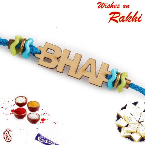 Aapno Rajasthan Laser Cut Bhai Motif Rakhi