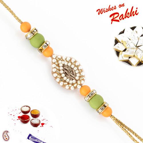 Aapno Rajasthan Colourful Beads Pearl Rakhi