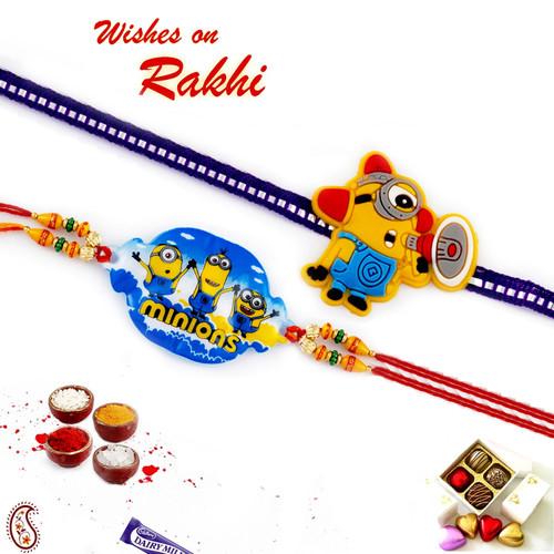 Aapno Rajasthan Set of 2 Lovely Motif Kids Rakhi