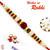 Aapno Rajasthan Multicolor Beads & Pearl Studded Rudraksh Rakhi