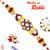 Aapno Rajasthan Yellow & Red Stones Beads Studded Floral Shape Rakhi