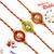 Aapno Rajasthan Set of 3 Mauli Rakhi with Golden Beads