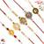 Aapno Rajasthan Set of 5 Golden and Pearl Beads Premium Rakhi
