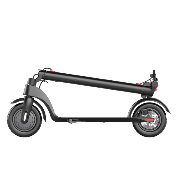 """X7 Foldable Electric Scooter 10"""" Wheels 36V 6.4Ah Folded"""