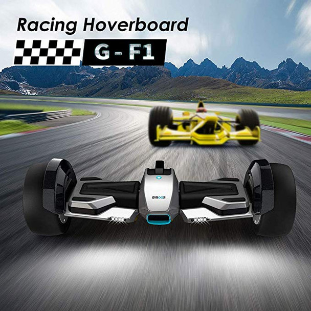 G-F1 8.5 Inch Fastest Racing Hoverboard Silver Racing Car Shape