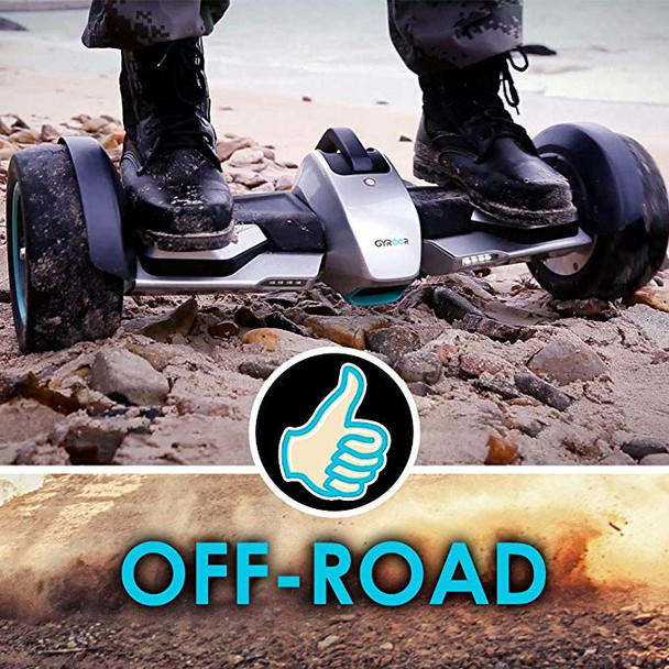 G-F1 8.5 Inch Fastest Racing Hoverboard Silver Off Road