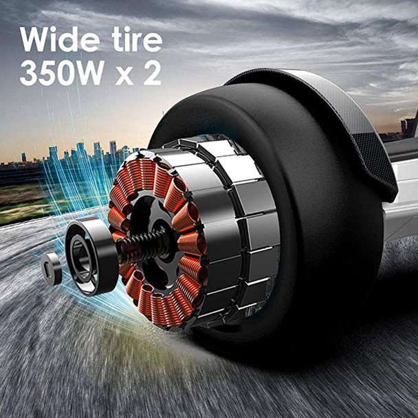 G-F1 8.5 Inch Fastest Racing Hoverboard Silver Dual 350W Motor
