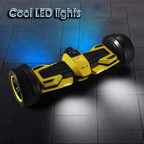 G-F1 Self Balancing Hover Board Yellow Cool LED Lights