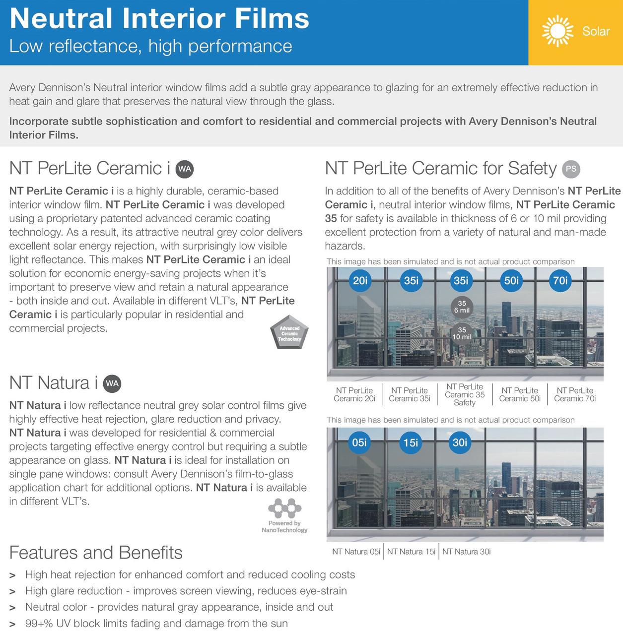 """Roll Neutral 50 Window Film 30/"""" Wide x 100 ft"""