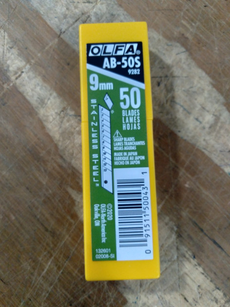 Olfa AB-50S Stainless Blade (50 pack)