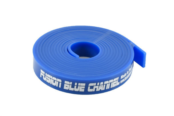 """120"""" Fusion Blue Channel Squeegee Blade Roll"""