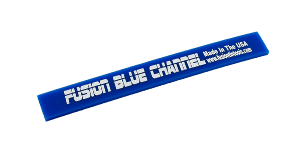 "6"" Fusion Blue Channel Squeegee Blade Strip"
