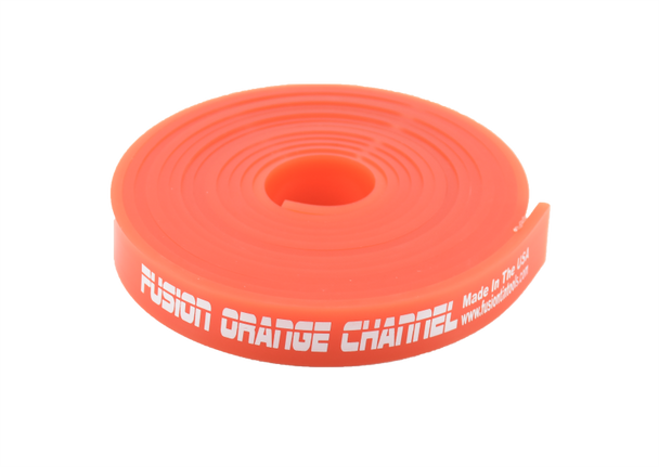 """120"""" Fusion Orange Channel Squeegee Blade Roll"""