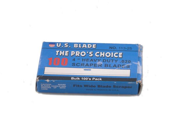 """4"""" Scraper Blades (100 pack)"""