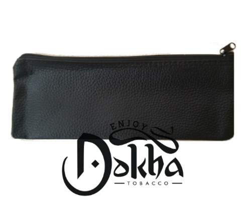 Black Faux Leather Dokha Pouch